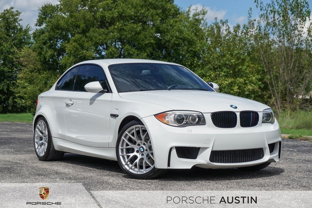 2011 BMW 1-Series M Coupe in Alpine White 3 over Black Boston Leather with Orange Stitching